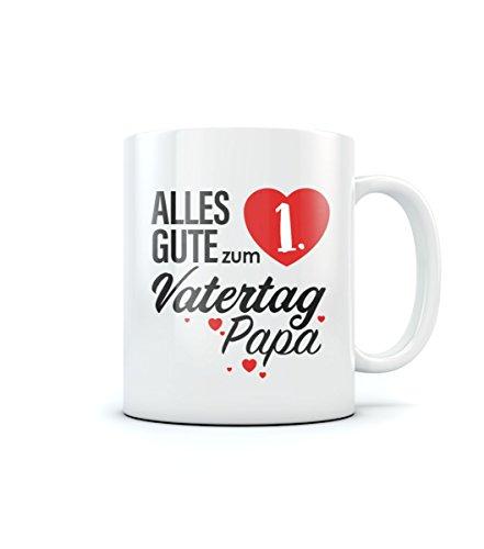 Alles gute zum 1. Vatertag Papa Vatertagsgeschenk Kaffeetasse Tee Tasse Becher 11 Oz. Weiß