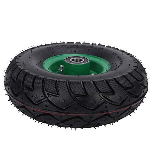 10.5in 4.10/3.50-4 6204-2RS Carritos de herramientas Neumático Cojinete incorporado Acero Cojinete de caucho Acero + caucho Rueda de carrito de herramientas inflable para rueda angular de