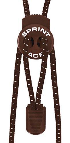 Sprint-Laces - elastische Schuhbänder für Running, Triathlon, Trekking, Fitness, Freizeit, etc. Farbe Natural Brown