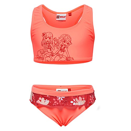 Lego Wear Mädchen Lego Girl Friends Alexa 427-BIKINI Bikini, Rot (Coral Red 310), 140