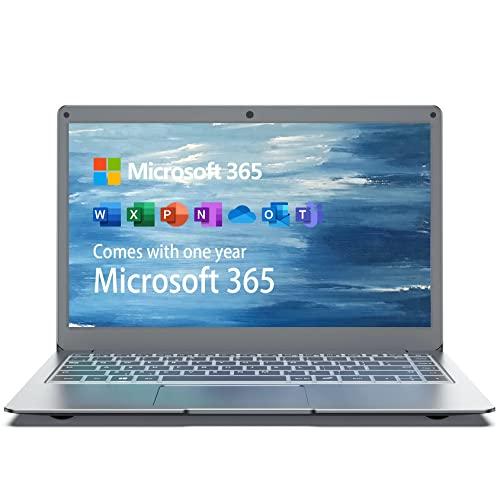 Jumper Laptop 13,3 Zoll (Microsoft Office 365, 4GB DDR3, 64GB eMMC, Intel Celeron N3350, Windows 10 Home, Intel HD Graphics 500, Dualband WLAN, HDMI, Webcam) QWERTZ DE Tastatur Notebook