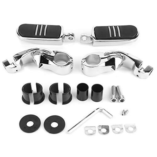 Par de reposapiés de 1-1/4 pulgadas con soportes para protectores de motor, aptos para ATV Scooter UTV Universal
