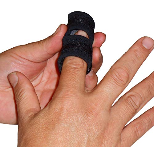IRUFA, FS-OS-12, 3D Breathable Fabric Finger Splint, Stabilizer Brace Wrap Support for Trigger Broken, Curved Bent Mallet Locking Finger, Dislocation, Straightener, , Pain Relief Black, One PCS