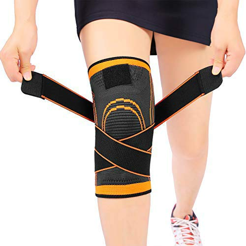 Sportneer Knee Sleeve, Compression Fit Support -for Joint Pain and Arthritis Relief, Improved Circulation Compression - Wear Anywhere - Single (L)