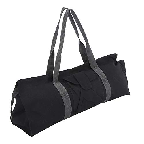 Bolsa de yoga, bolsa de almacenamiento multifuncional para esterilla de gimnasio para yoga, bolsa de hombro individual para deportes, color negro, para la mayoría de las esterillas de yoga, toallas u