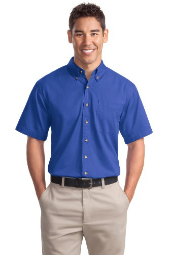Port Authority® Short Sleeve Twill Shirt. S500T Faded Blue 3XL