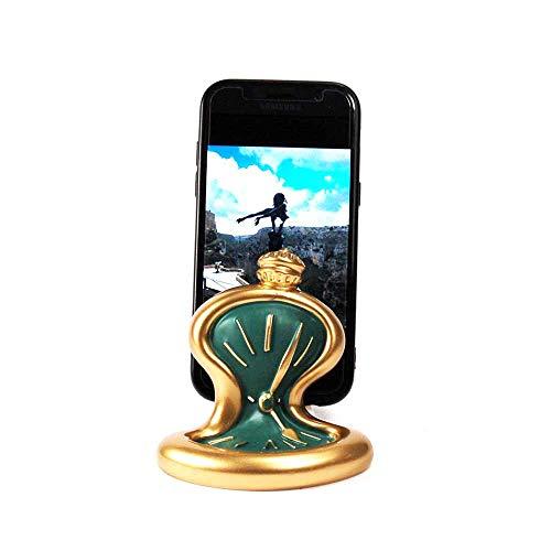 Mobiele telefoon tafelklok hars goud groen mat Made in Italy