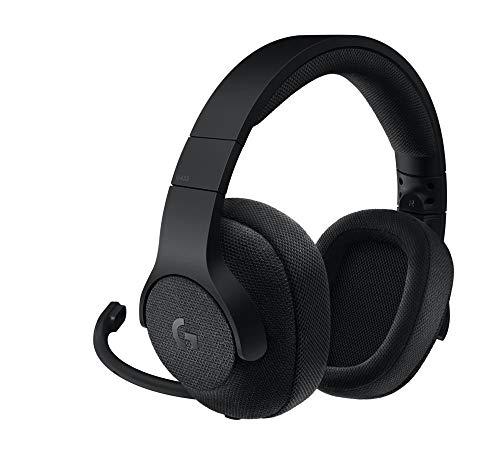 Logitech G433 Kabelgebundenes Gaming-Headset, 7.1 Surround Sound, DTS Headphone:X, 40mm Pro-G Treiber, USB-Anschluss & 3.5mm Klinke, Abnehmbares Mikrofon, PC/Xbox One/PS4/Nintendo Switch - schwarz