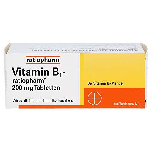 VITAMIN B1-RATIOPHARM 200 mg Tabletten 100 St Tabletten 100 St Tabletten