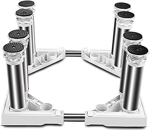 Ghongrm Base Ajustable retráctil para refrigerador Exteriorizado 29-32 cm Frigorífico congelador Soporte Base Hogar Dispositivo Multifuncional Longitud/Ancho 43-65 cm Soporte de Titular de lavavajil