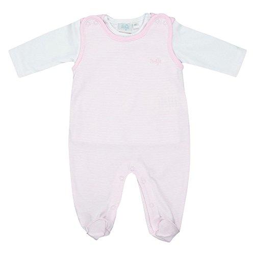 FEETJE Strampler mit langarm Shirt Baby Baby-Set, Größe 44, rosa