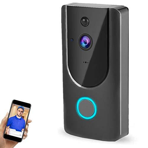 720p WiFi Timbre de Video inalámbrico Inteligente, Intercomunicador bidireccional, visión Nocturna por Infrarrojos, Alimentado por batería, monitoreo Remoto móvil