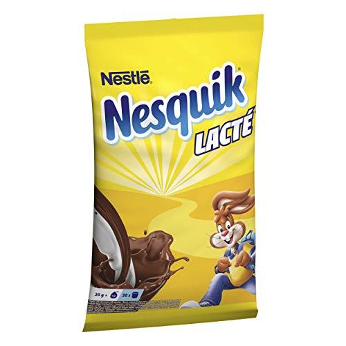 NESQUIK LACTɠ - Boisson Cacao poudre - Goût de chocolat - Petit-Déjeuner -Sachet de 1kg