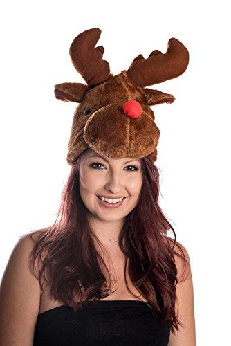 Ciffre Moose testa di renna Rudolf cappello della santa cappello Santa Brown Fun Trend