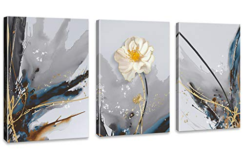 Abstract Painting Flower Decoration Artwork Wall Art for Bathroom Bedroom Wall Decoration 3 panels Each Size 12x16inch