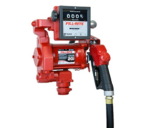 Fill-Rite FR711VA 115V 20GPM Fuel Transfer Pump with Discharge Hose, Auto Nozzle, Mechanical Gallon Meter