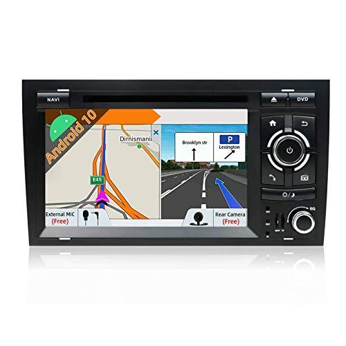 JALAL para A4 2003-2011 Android 9.0 Unidad Principal de Doble DIN Estéreo para automóvil Reproductor de DVD de 7 Pulgadas Soporte de Radio DABWIFI SWC Salida AV Bluetooth AUX Canbus y cámara