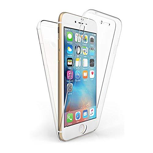 TBOC Funda para Apple iPhone 6 (4.7 Pulgadas) - Carcasa [Transparente] Completa [Silicona TPU] Doble Cara [360 Grados] Protección Integral Total Delantera Trasera Lateral Móvil Resistente Golp