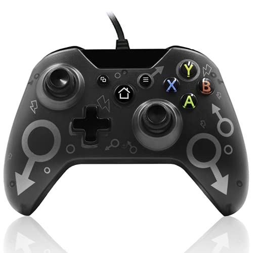 Mando Xbox One, Xbox One S, Xbox One X, Xbox Series x controlador cableado compatible con Windows PC 7/8/10, xbox one controller soporte y controles de audio