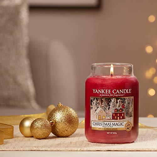 Yankee Candle Candela profumata in giara grande   Magia natalizia   Durata Fino a 150 Ore