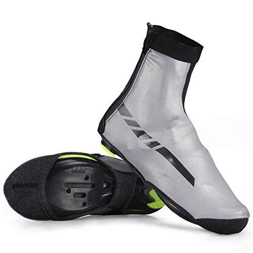 TEET Cycling Overshoes Waterproof Sports Shoes Reflective Cover Cycling Bike Windproof Fabric Shoes Covers MTB Road Bicycle Bike Racing