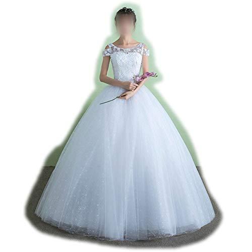 ZSRHH-Kleid Frauenkleid Tüll Brautkleid Cocktailkleider schlanke Taille Mode Frauen (Size : XL)