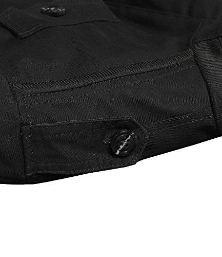 GARSEBO Mens Coats Outdoor Wear Resistance Casual Light Weight Jackets