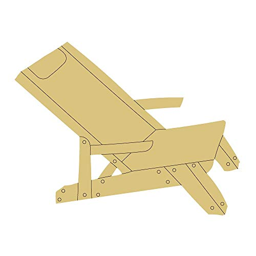 """Beach Chair Design by Lines Cutout Unfinished Wood Summer Decor Beach Party Theme Door Hanger MDF Shape Canvas Style 1 Art 2 (6"""")"""