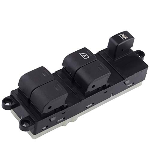 Interruptor de Control de Ventana Piezas de coches Negro conductor Interruptor de la ventana lateral del botón de control en forma for el Nissan Qashqai en forma for el J10 2.0 DCi 4WD 25401BB60B / 25