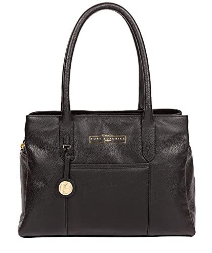 Pure Luxuries London Chatham Women's 33cm Biodegradable Leather Handbag...