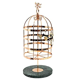 Jewelry Towers Jewelry Display Organizer Rack - Large Capacity Organizer Stand for Jewelry Rotatable Birdcage Design Earrings Ear Studs Display Holder Necklaces Hanging Bracket Jewelry Boxes