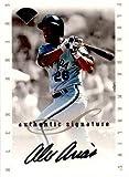 1996 Leaf Signature Extended Alex Arias Autograph Baseball Card