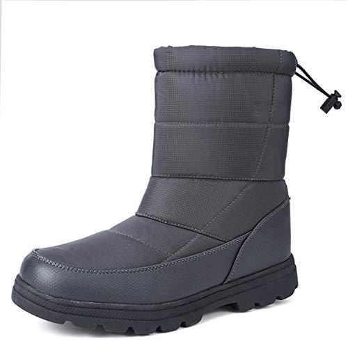 gracosy Winterschuhe Damen Warm Gefüttert Wasserdicht Winterstiefel Flach rutschfeste Schneestiefel Thermostiefel Leicht Outdoor Winter Boots Damen Herren