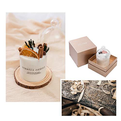 Velas aromáticas de aromaterapia para el hogar, cera de soja natural de 10 onzas, vela portátil de viaje con vainilla, ámbar, pimienta, madera de agarre, aroma de sándalo, set de regalo para mujeres