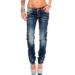 Cipo & Baxx Women's Straight Leg Jeans Blue Blue