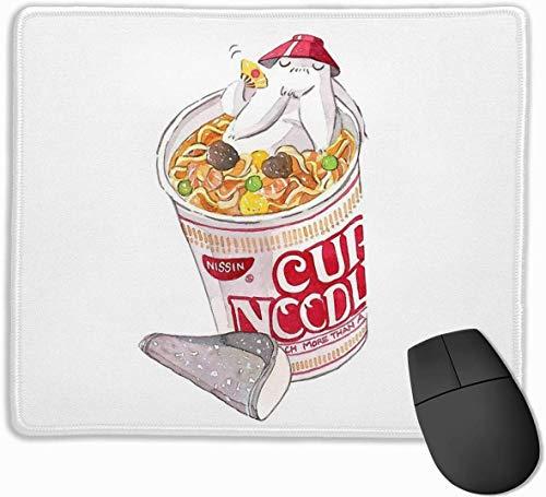 Rettich-Geist-Schalen-Nudel-rutschfeste Gummi-Mousepad-Spiel-Mausunterlage mit genähtem Rand 11,8 'x9,8'