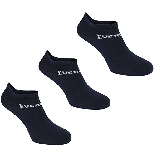 Everlast Herren 3er Pack Trainersocken Knöchelsocken Sport Marinefarbe Herren UK 7-11