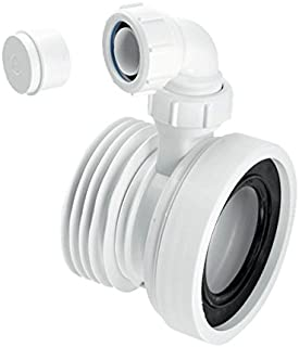 Mcalpine WC-CON1V Straight Rigid WC Connector with Vent Boss, White