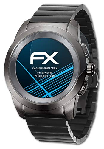 atFoliX Schutzfolie kompatibel mit MyKronoz ZeTime Elite Petite Folie, ultraklare FX Bildschirmschutzfolie (3X)