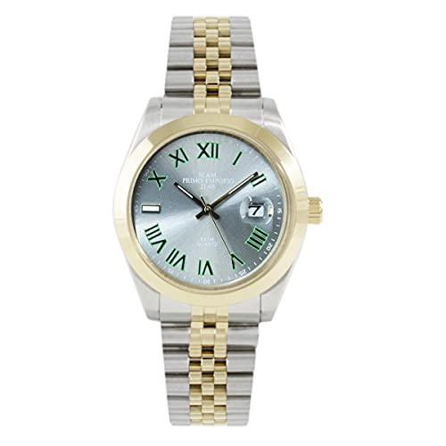 M&M - Reloj de primer emporio bicolor de acero 1102WJ