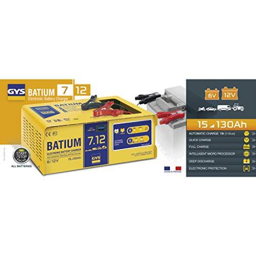 Chargeur de batterie GYS Batium 7.12, 1 pièce, 024496