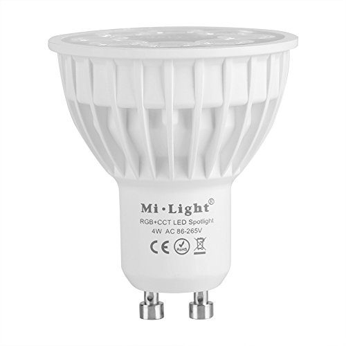 Milight Wireless E27 GU10 4 W LED RGB CCT spotlight RGB spotlight licht kleurverandering afstandsbediening WiFi LED-lamp decor kast garderobe GU10