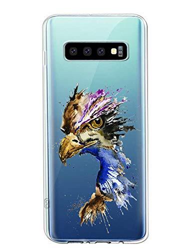 Oihxse Compatible con Samsung Galaxy S7 Funda Suave Gel TPU Silicona Cristal Transparente Carcasa Acuarela Animal Pintado Patrón Protectora Estuche Bumper Caso Case (B7)