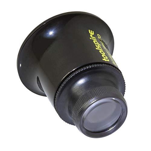toolspire Uhrmacherlupe Lp-20x 20-fache Vergrösserung, Feinmechanikerlupe mit 2 glasklaren Polycarbonatlinsen