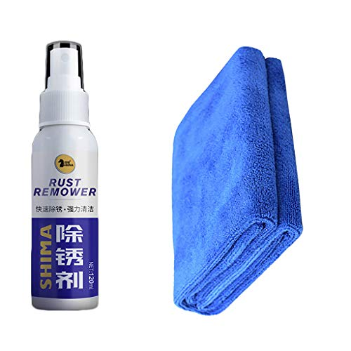 Lowest Price! Ellymi Car Rust Remover Metal Anti-Rust Lubricant Metal Surface Chrome Paint Maintenan...