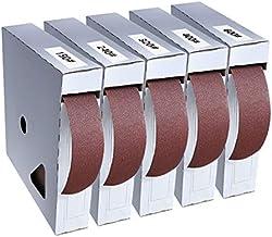 TuToy 50 meter 150-600 Korreldoos Schuurbandrol Trekbare schuurlinnen Schuurpapier Schuurpakketrol voor houtdraaiers Houtb...