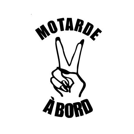 Autocollant Motarde à Bord main ongles moto sticker logo 3 Taille : 8 cm Couleur : turquoise