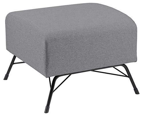 Amazon Brand - Movian Galga - Poggiapiedi, 53 x 53 x 42 cm (Lu x La x A), grigio chiaro (tessuto...