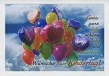 Karte zum Kindertag'wunderbare Wünsche', B6 + Umschlag