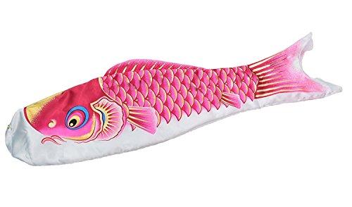 最高級鯉のぼり ロイヤル錦 単品 桃(ピンク)0.8m 口金具付